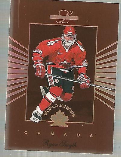 1994-95 Leaf Limited World Juniors Canada #9 Ryan Smyth