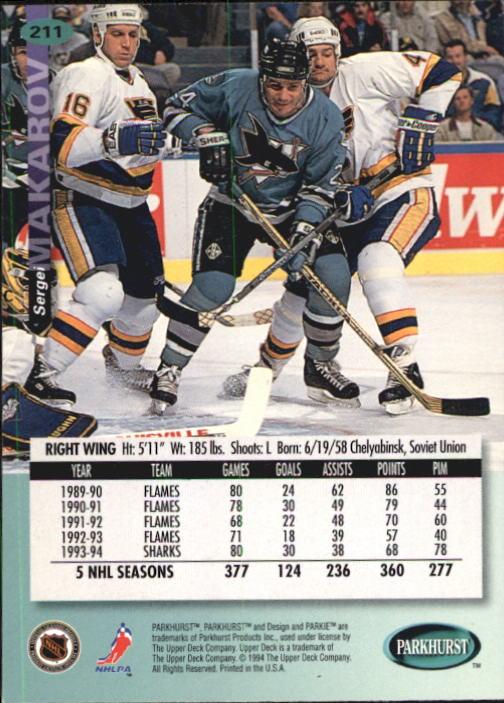 1994-95 Parkhurst #211 Sergei Makarov back image