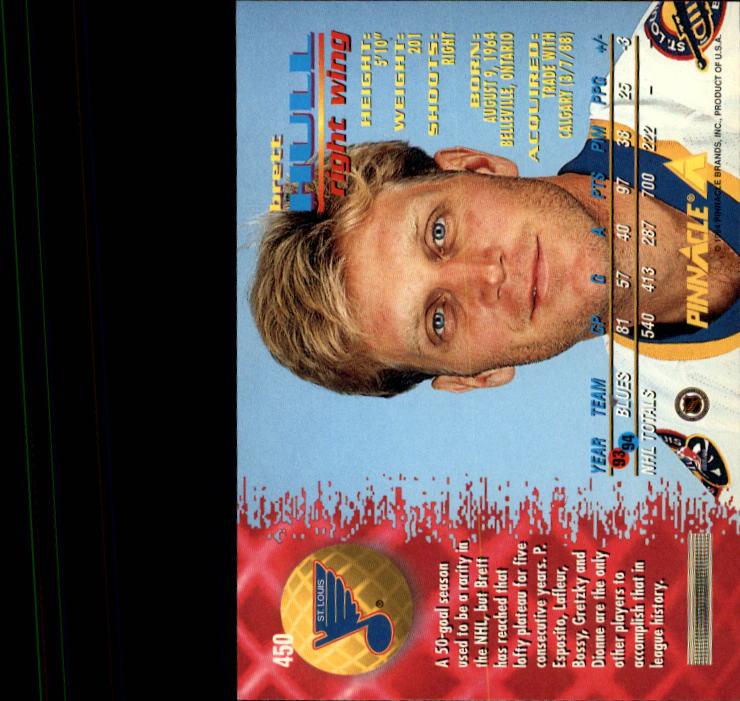 1994-95 Pinnacle #450 Brett Hull back image