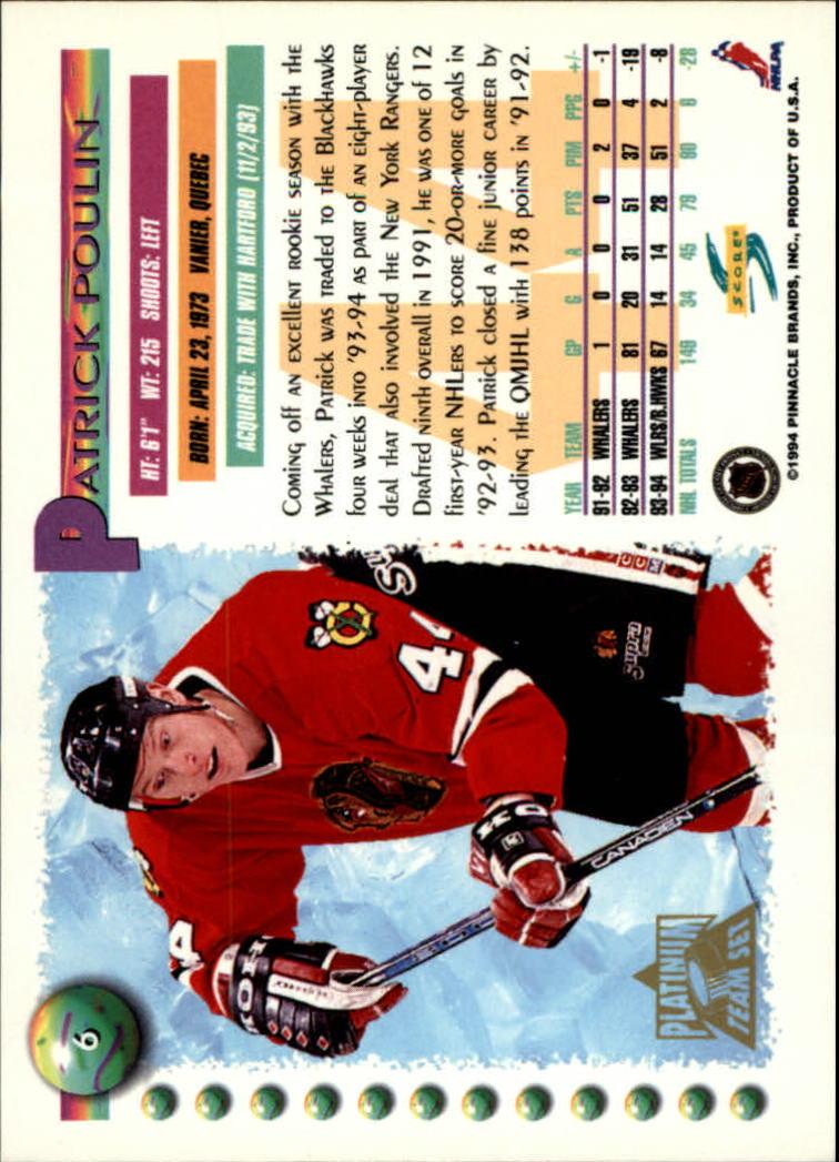 1994-95-Score-Platinum-Hockey-Card-Pick thumbnail 7