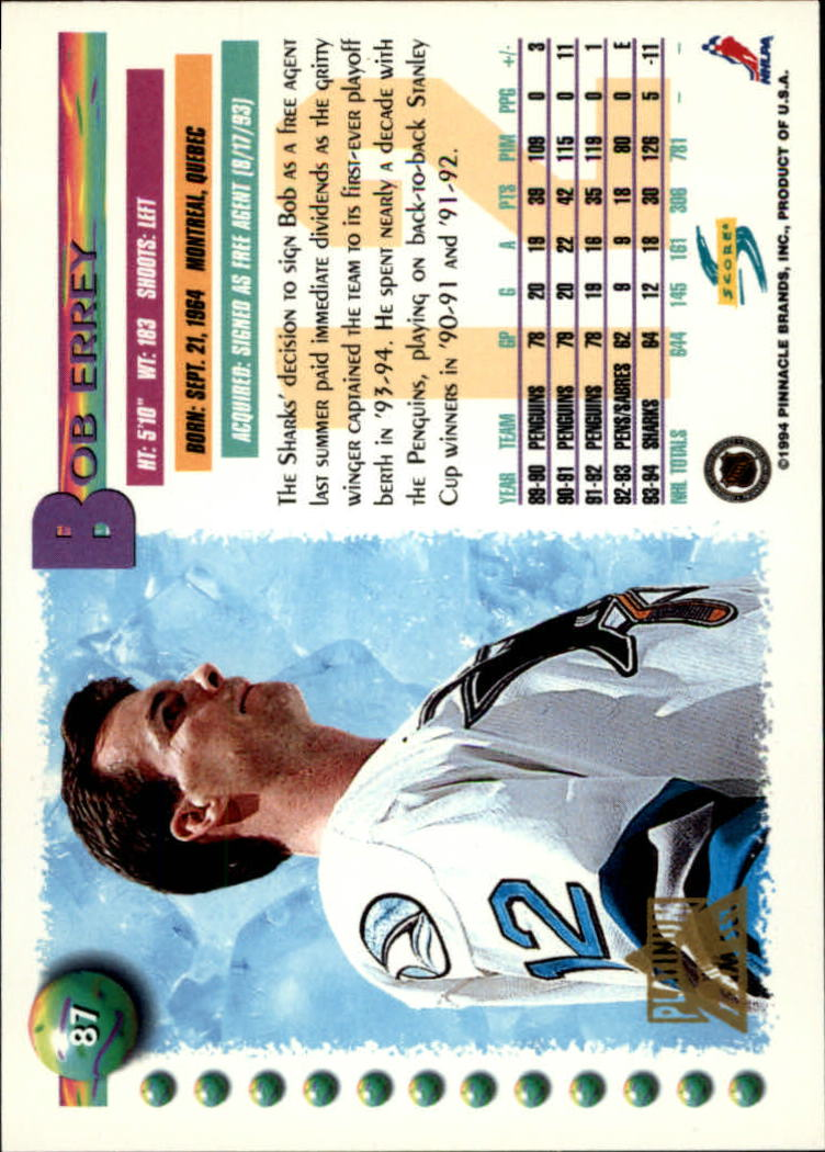 1994-95-Score-Platinum-Hockey-Card-Pick thumbnail 59
