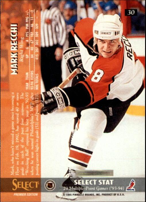 1994-95 Select #30 Mark Recchi back image