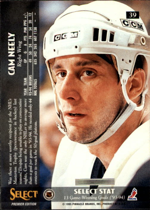 1994-95 Select #39 Cam Neely back image