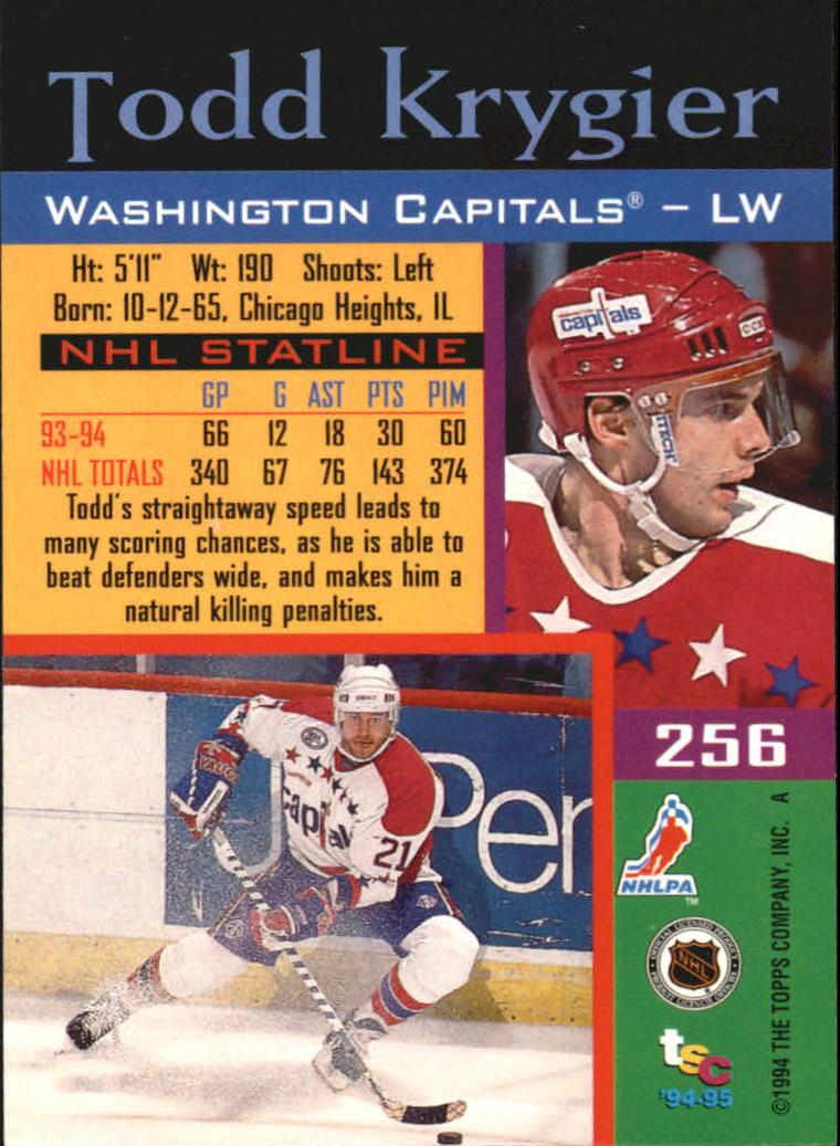 1994-95 Stadium Club #256 Todd Krygier back image