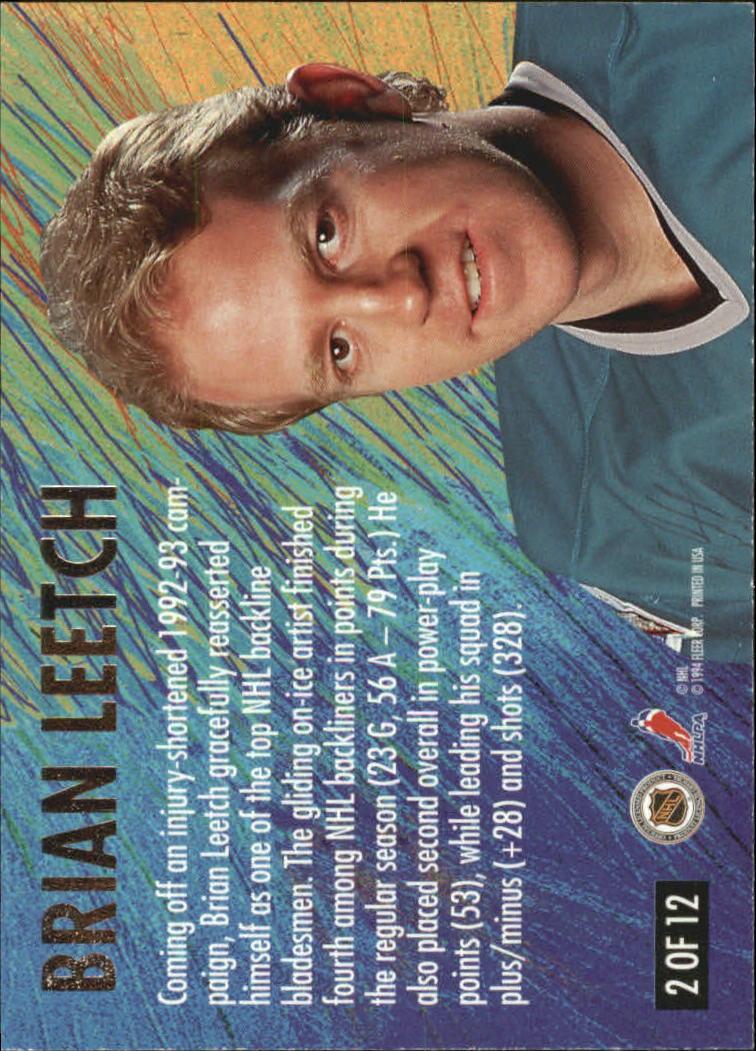1994-95 Ultra All-Stars #2 Brian Leetch back image