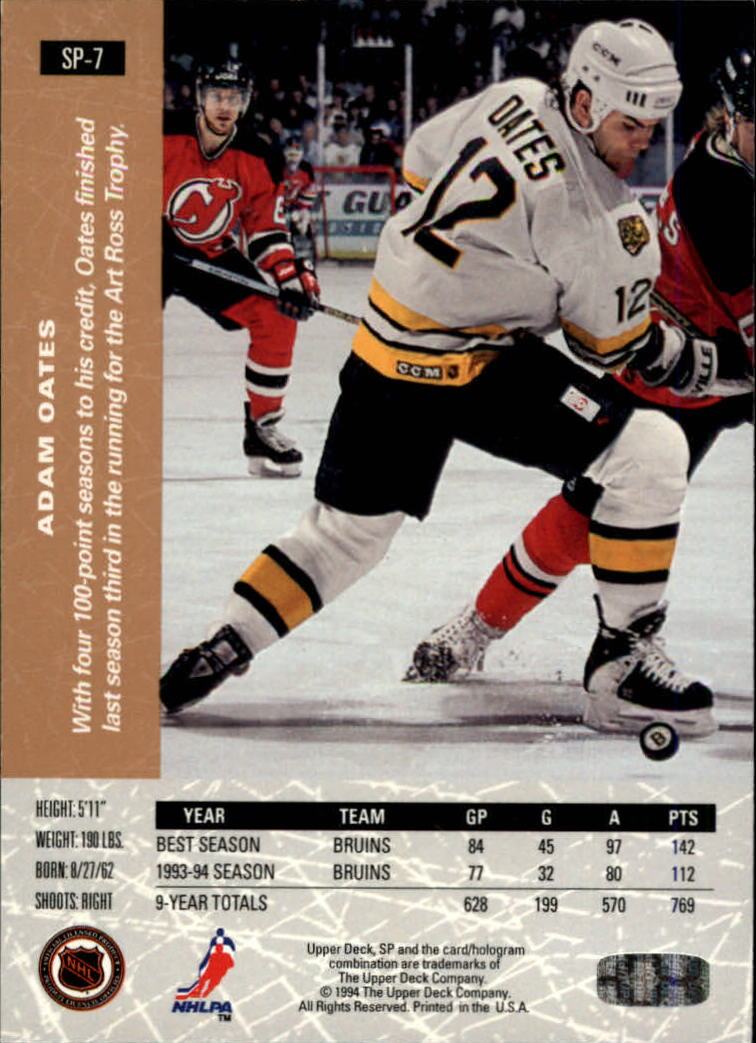 1994-95 Upper Deck SP Inserts #SP7 Adam Oates back image