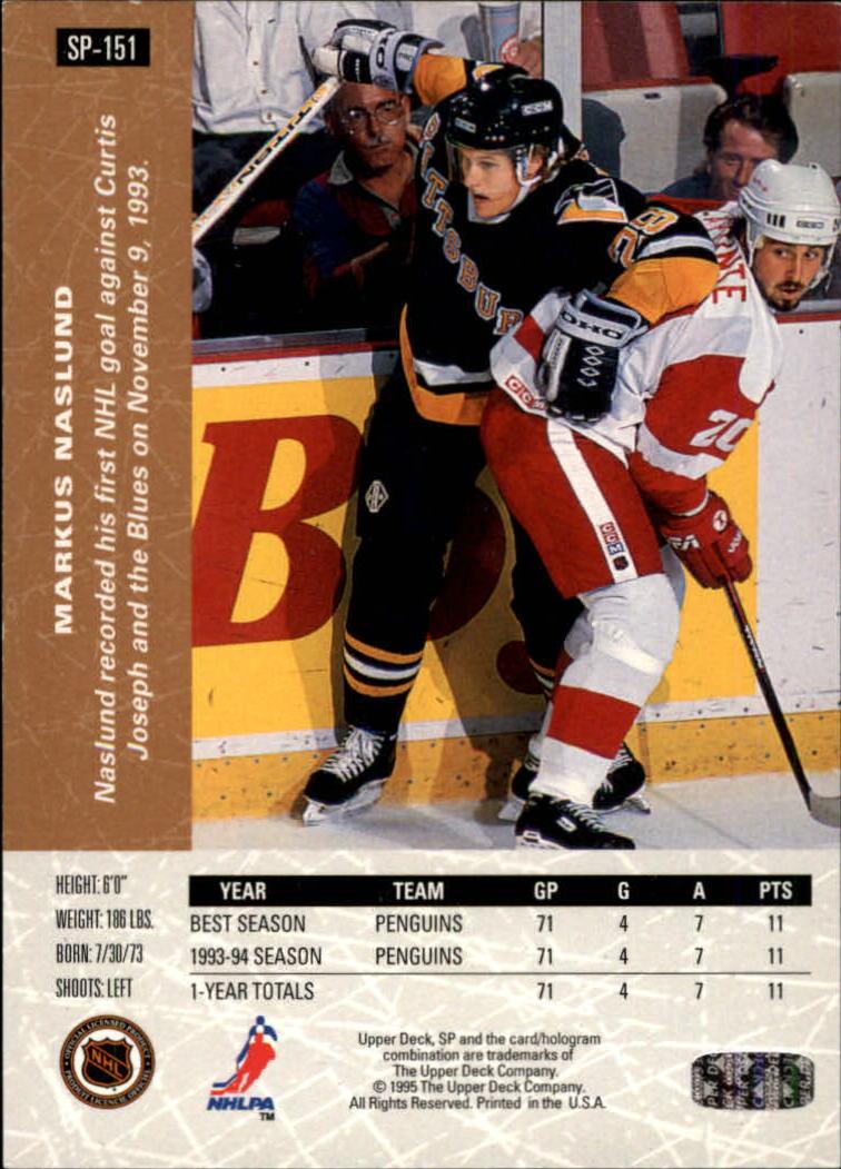 1994-95 Upper Deck SP Inserts #SP151 Markus Naslund back image