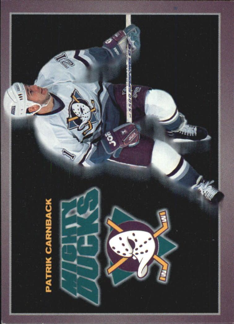 1994-95 Ducks Carl's Jr. #1 Patrik Carnback
