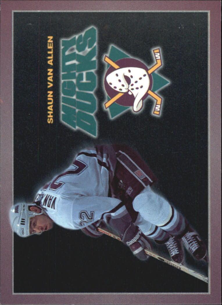 1994-95 Ducks Carl's Jr. #7 Shaun Van Allen