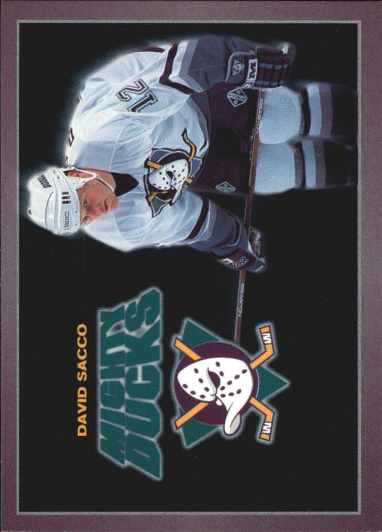 1994-95 Ducks Carl's Jr. #20 David Sacco