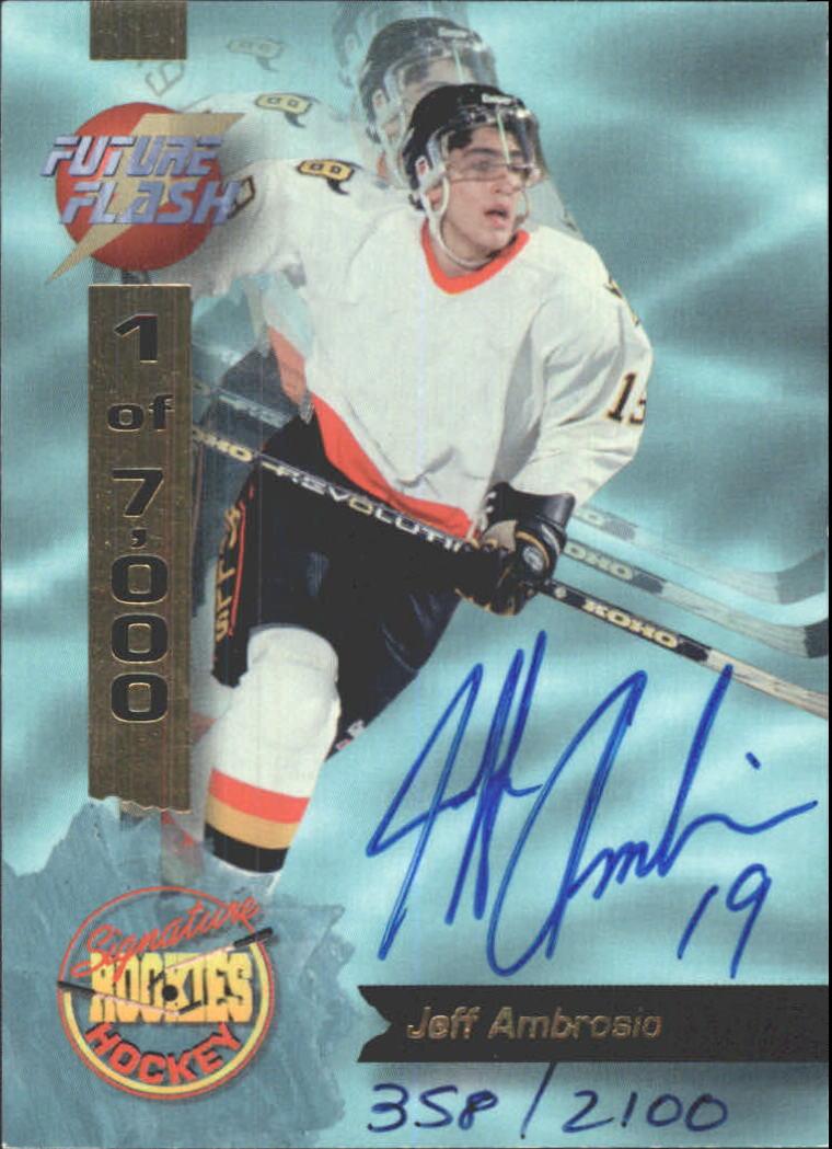 1995 Signature Rookies Future Flash Signatures #FF1 Jeff Ambrosio