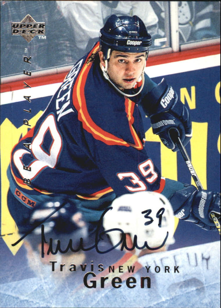 1995-96 Be A Player Autographs #S15 Travis Green