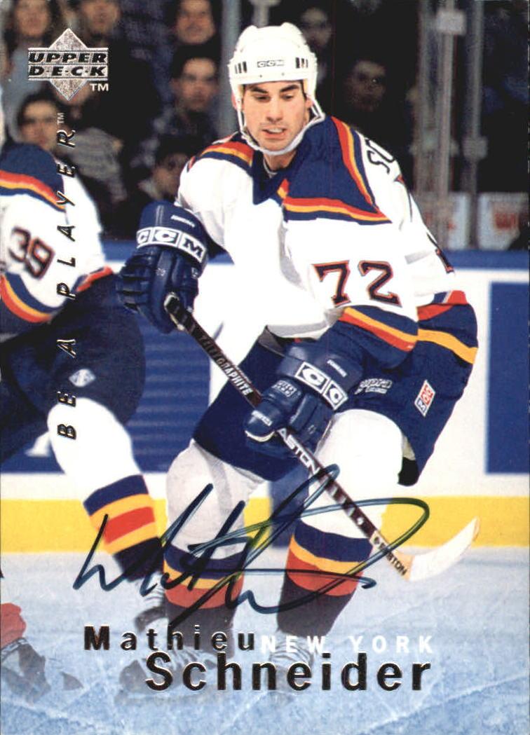 1995-96 Be A Player Autographs #S20 Mathieu Schneider