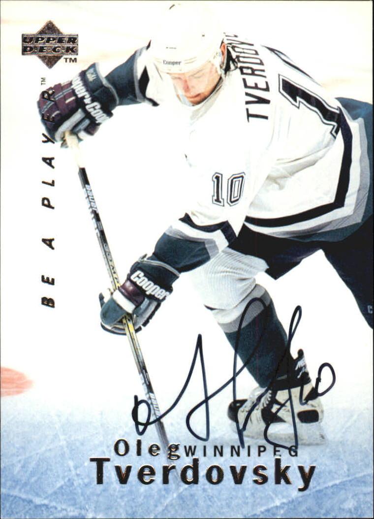 1995-96 Be A Player Autographs #S61 Oleg Tverdovsky