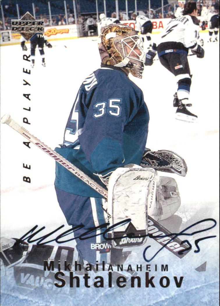 1995-96 Be A Player Autographs #S69 Mikhail Shtalenkov