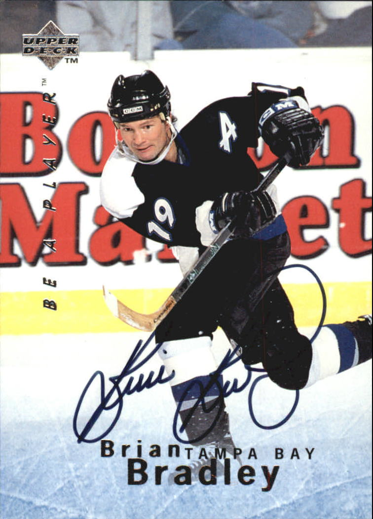 1995-96 Be A Player Autographs #S117 Brian Bradley