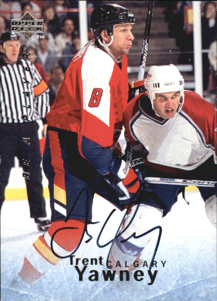 1995-96 Be A Player Autographs #S146 Trent Yawney