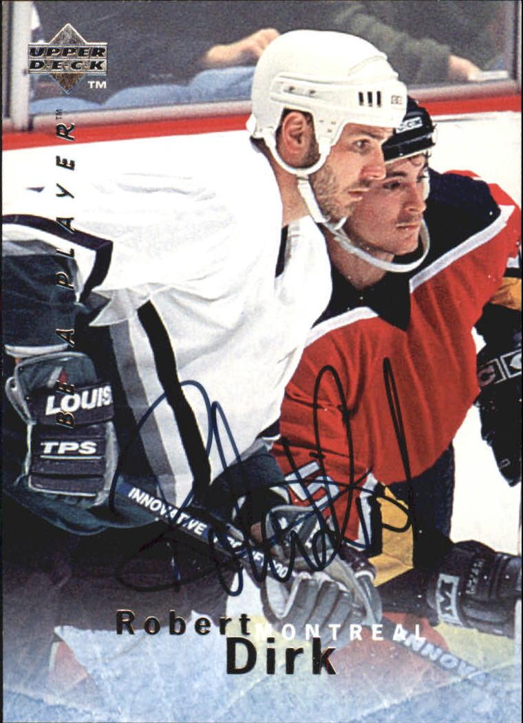1995-96 Be A Player Autographs #S159 Robert Dirk