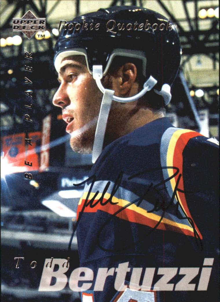 1995-96 Be A Player Autographs #S168 Todd Bertuzzi