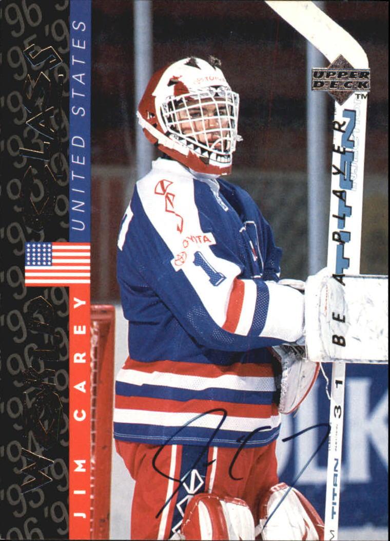 1995-96 Be A Player Autographs #S189 Jim Carey
