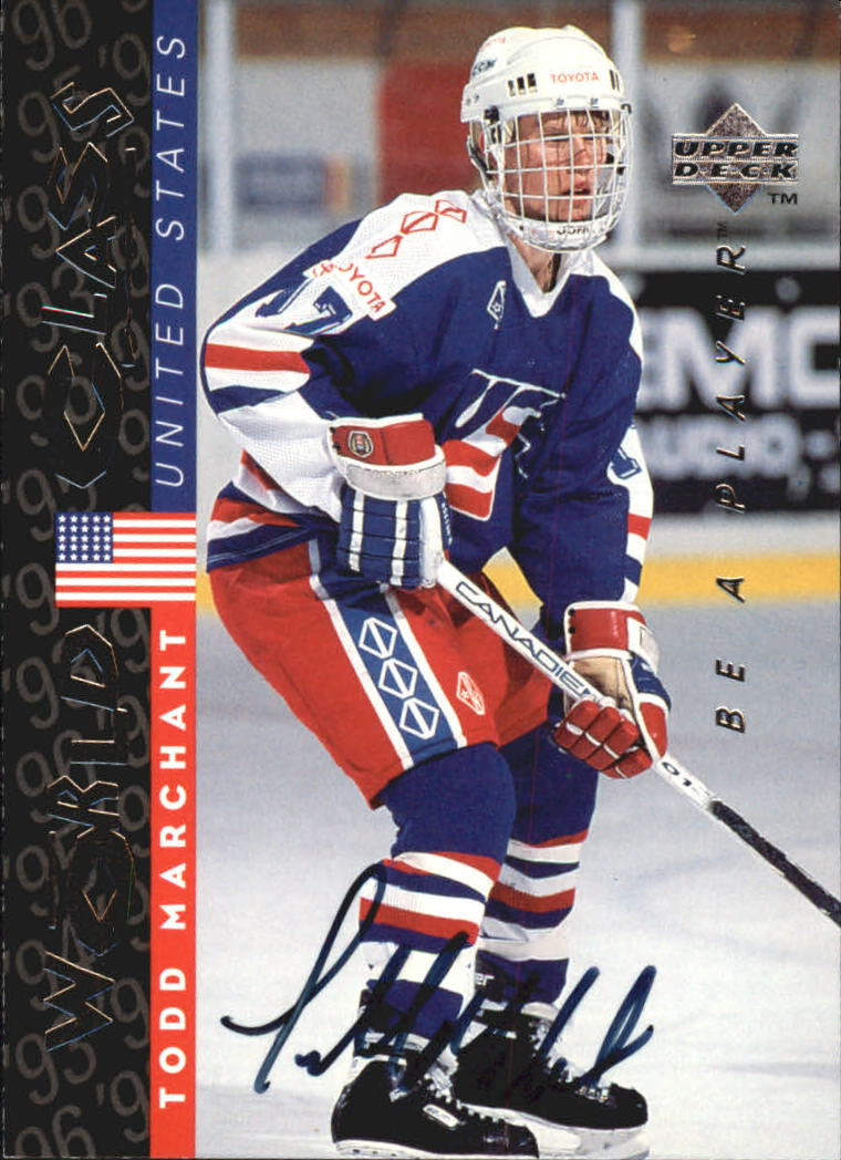 1995-96 Be A Player Autographs #S190 Todd Marchant