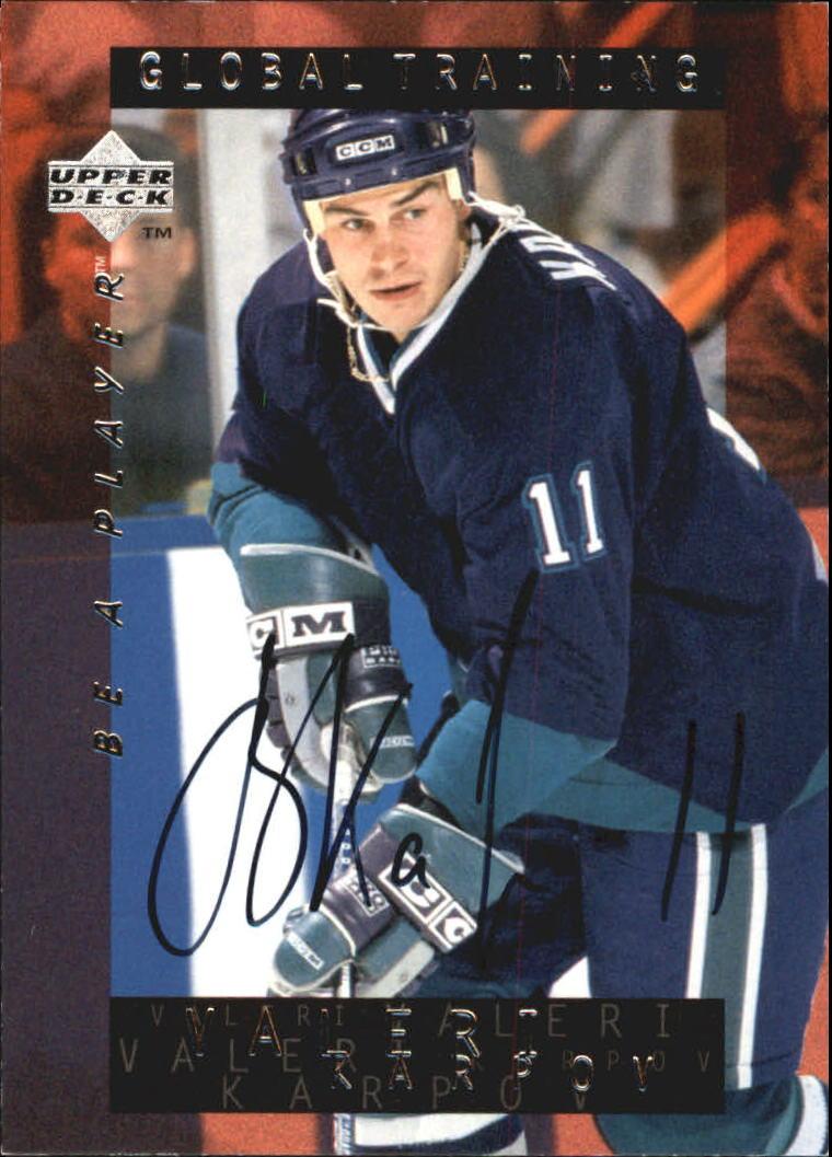 1995-96 Be A Player Autographs #S205 Valeri Karpov