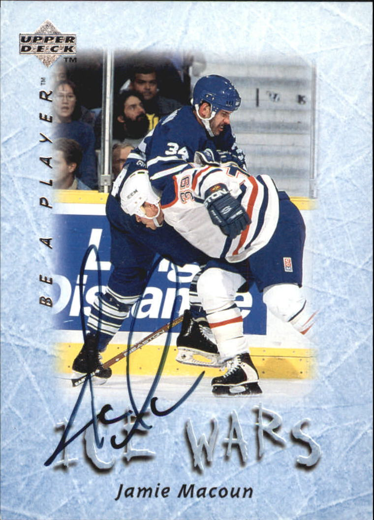 1995-96 Be A Player Autographs #S218 Jamie Macoun