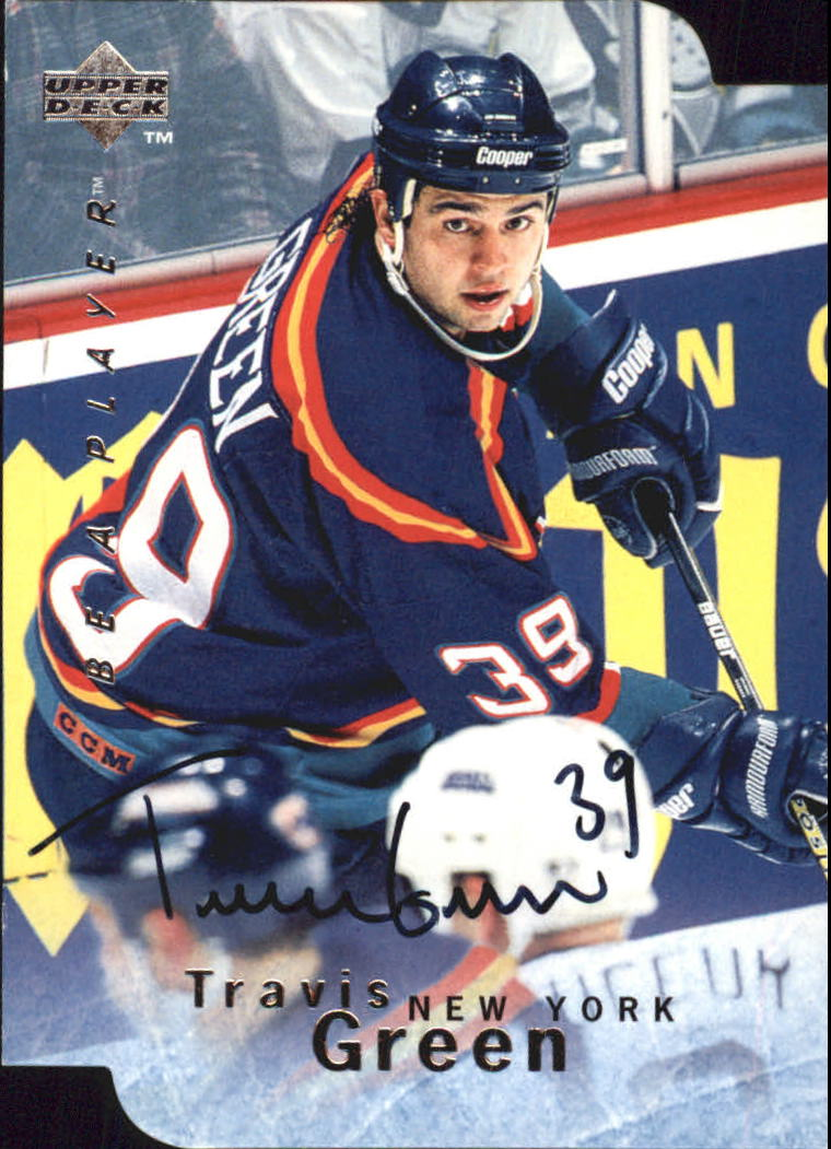 1995-96 Be A Player Autographs Die Cut #S15 Travis Green