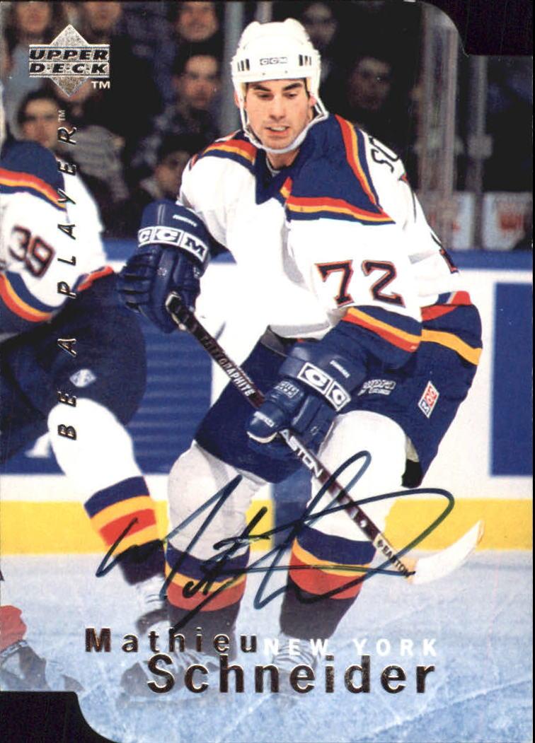 1995-96 Be A Player Autographs Die Cut #S20 Mathieu Schneider