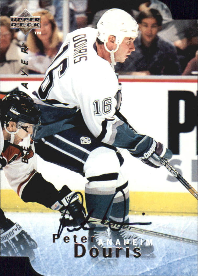 1995-96 Be A Player Autographs Die Cut #S25 Peter Douris