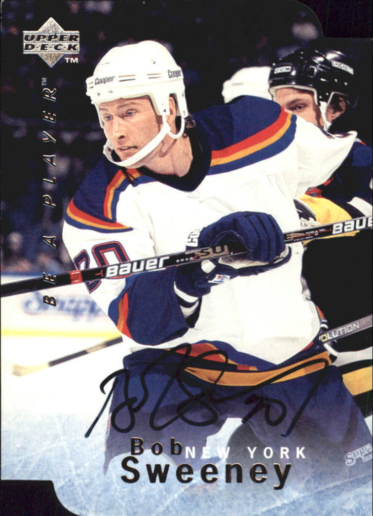 1995-96 Be A Player Autographs Die Cut #S26 Bob Sweeney