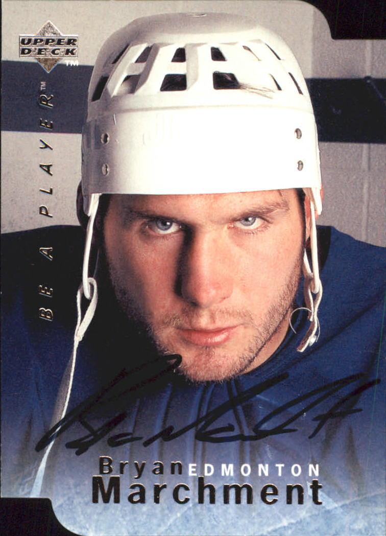 1995-96 Be A Player Autographs Die Cut #S39 Bryan Marchment