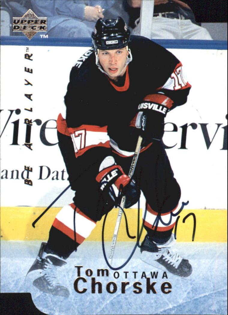 1995-96 Be A Player Autographs Die Cut #S43 Tom Chorske