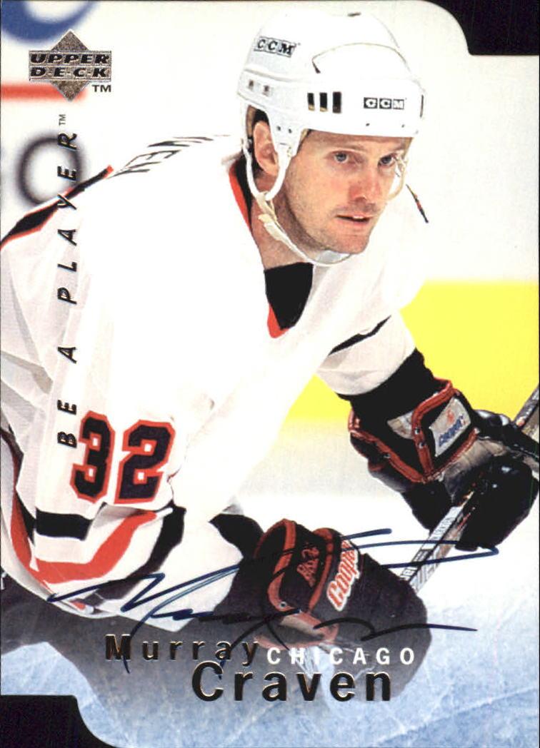1995-96 Be A Player Autographs Die Cut #S46 Murray Craven