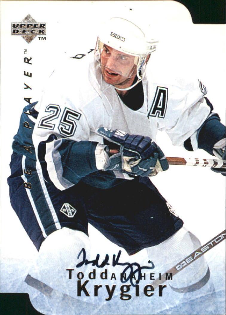 1995-96 Be A Player Autographs Die Cut #S93 Todd Krygier