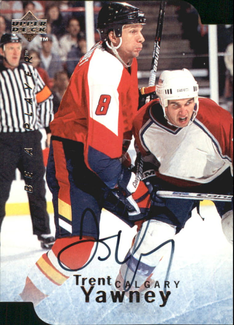 1995-96 Be A Player Autographs Die Cut #S146 Trent Yawney