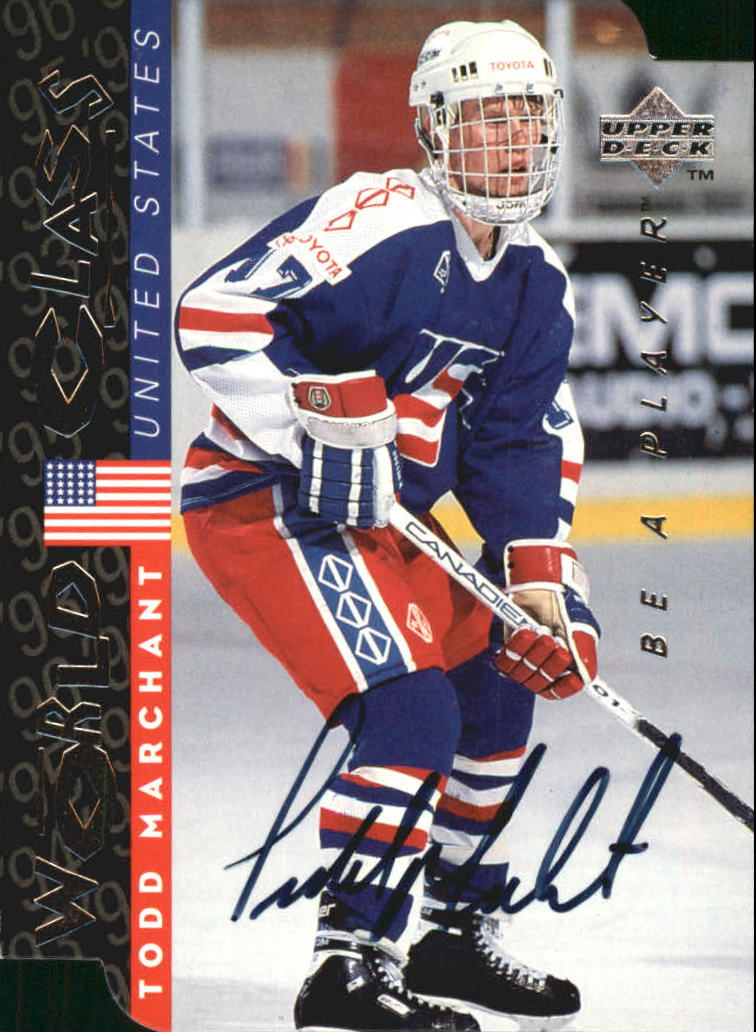 1995-96 Be A Player Autographs Die Cut #S190 Todd Marchant