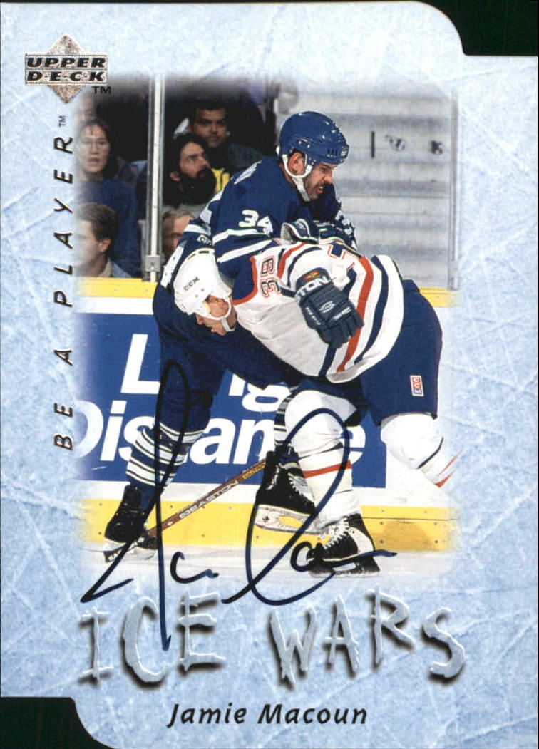1995-96 Be A Player Autographs Die Cut #S218 Jamie Macoun