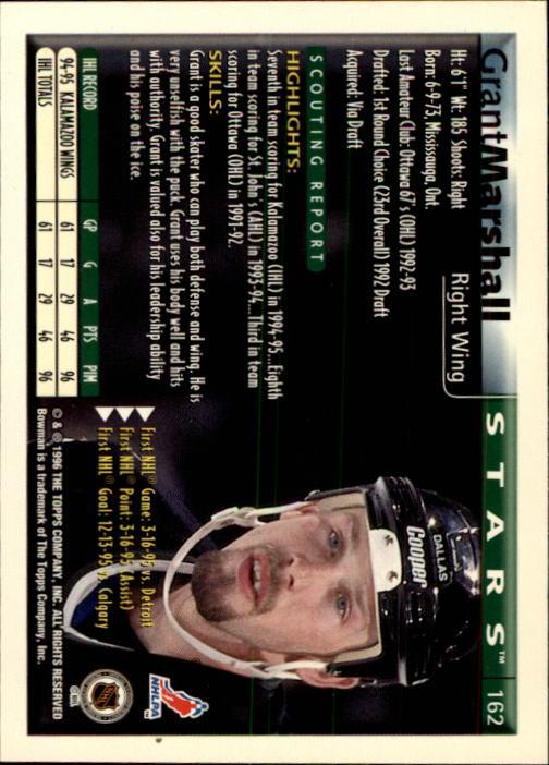 1995-96 Bowman #162 Grant Marshall back image