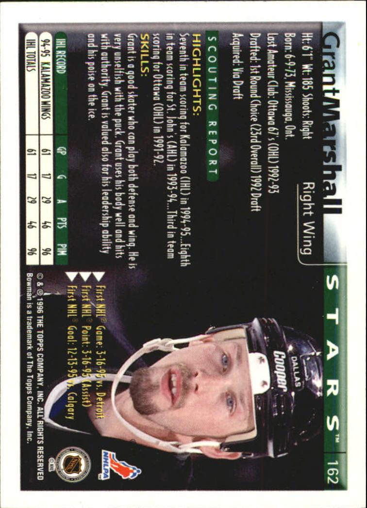 1995-96 Bowman Foil #162 Grant Marshall back image
