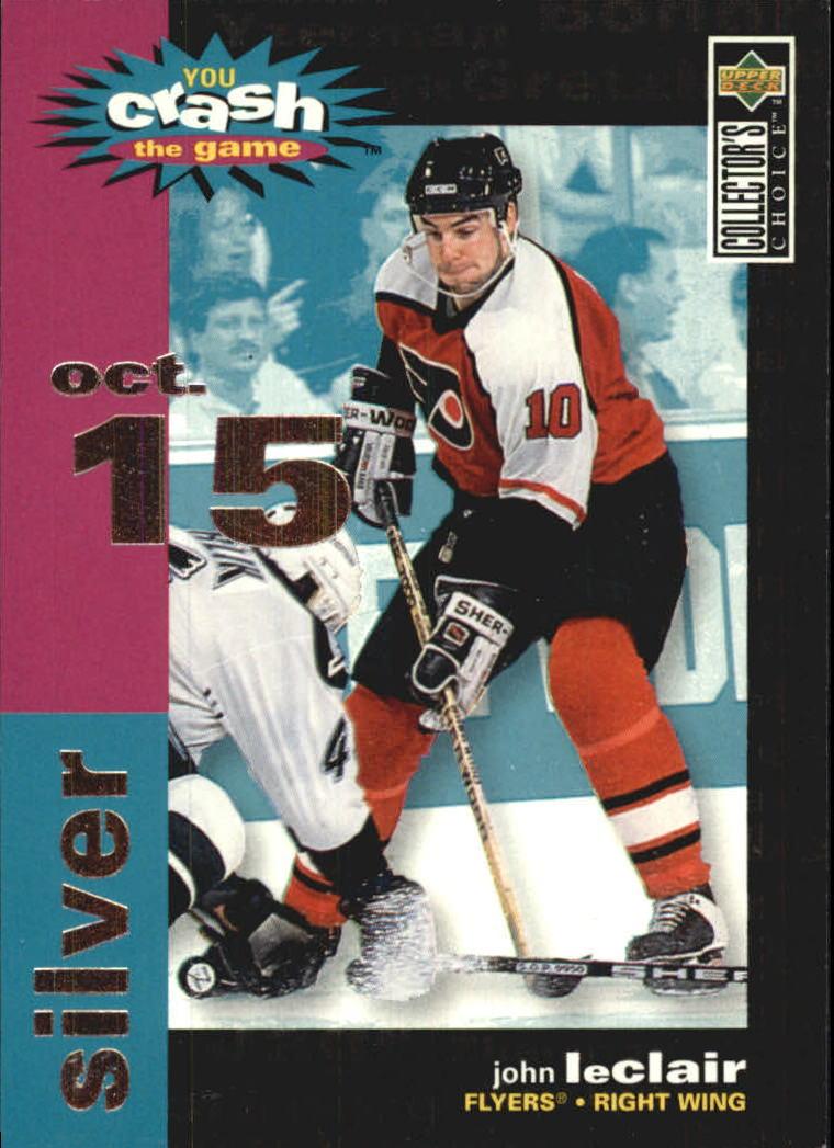 1995-96 Collector's Choice Crash the Game Silver #C23A John LeClair 10/15/95