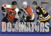 1995-96 Donruss Dominators #2 John LeClair/Mikael Renberg/Jaromir Jagr