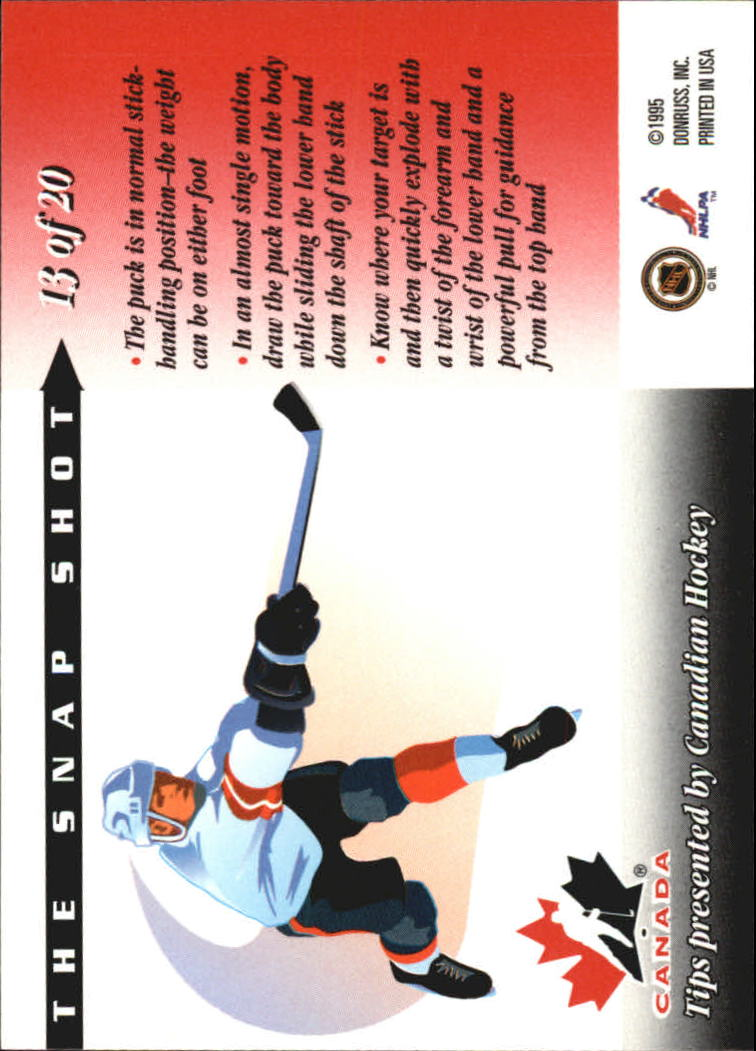 1995-96 Donruss Pro Pointers #13 Eric Lindros back image