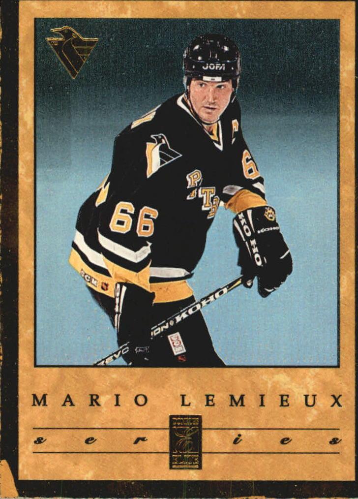 1995-96 Donruss Elite Lemieux/Lindros Series #2 Mario Lemieux