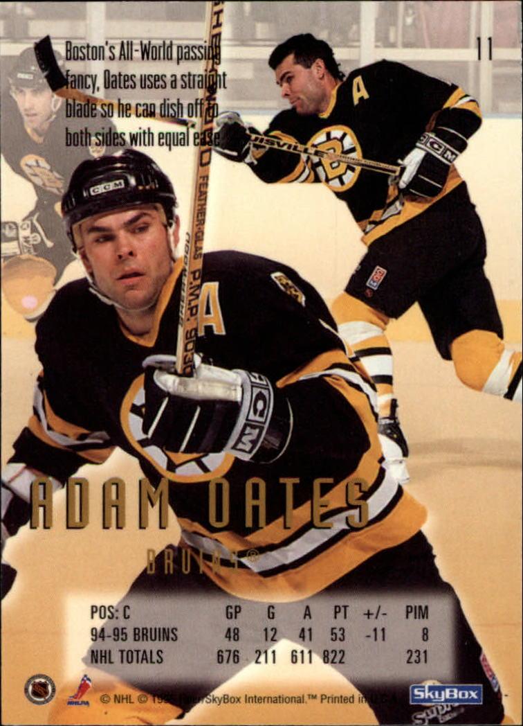 1995-96 Emotion #11 Adam Oates back image