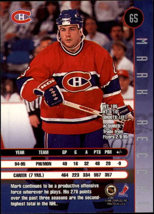 1995-96 Leaf #65 Mark Recchi back image