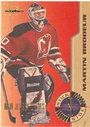 1995-96 Leaf Limited Stick Side #2 Martin Brodeur