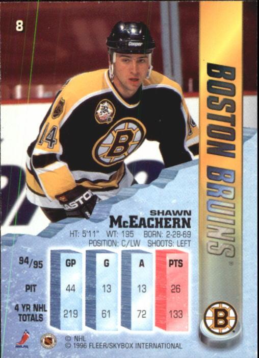 1995-96 Metal #8 Shawn McEachern back image
