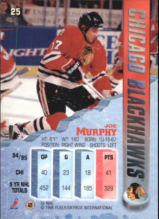 1995-96 Metal #25 Joe Murphy back image