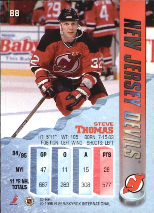1995-96 Metal #88 Steve Thomas back image